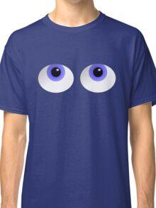 Big Blue Cute Cartoon Eyes Classic T-Shirt