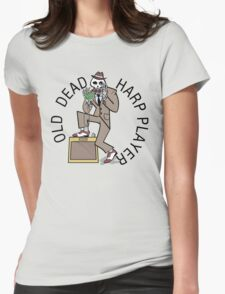 Old Dead Harp Player Womens Fitted T-Shirt
