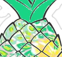 Lilly Pulitzer Printed Pineapple  Sticker