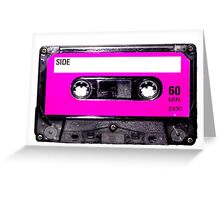 Classic Pink Label Cassette Greeting Card