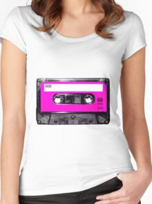 Classic Pink Label Cassette Women's Fitted Scoop T-Shirt