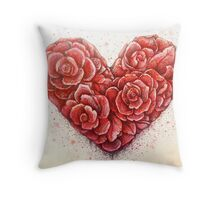 rose of hearts Throw Pillow
