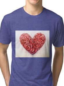 rose of hearts Tri-blend T-Shirt