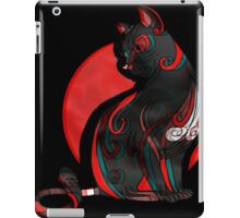 Artistic Abstract Black Cat with 3D effect iPad Case/Skin