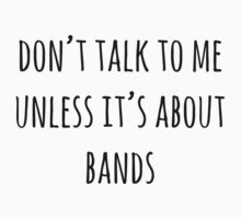 ..unless its about bands by Caspresso