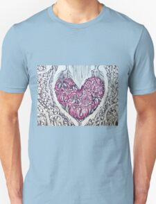 rose quartz stone tangled heart Unisex T-Shirt