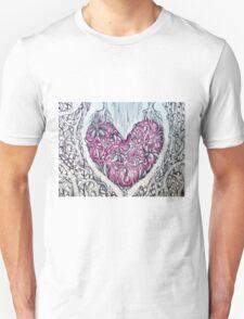 rose quartz stone tangled heart Unisex T-Shirt