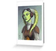 Star Wars - Hera Greeting Card