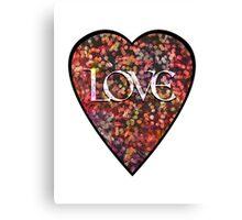 Valentine Vintage Love Heart Canvas Print