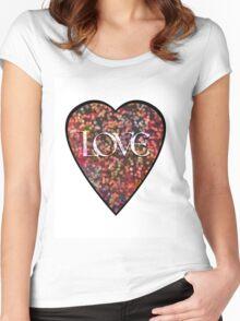 Valentine Vintage Love Heart Women's Fitted Scoop T-Shirt