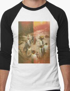 Retro Penguins Men's Baseball ¾ T-Shirt