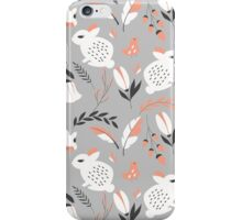 Rabbits and flowers 007 iPhone Case/Skin