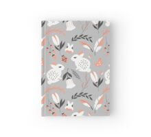 Rabbits and flowers 007 Hardcover Journal