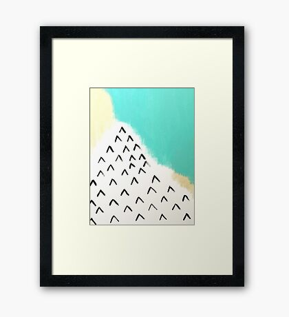 Ocean Mountains Framed Print