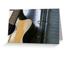 Bass Guitar With Tabs Greeting Card