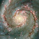 M51, also known as NGC 5194 by StocktrekImages