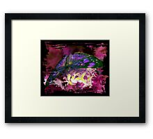 Purple Butterfly Art Framed Print