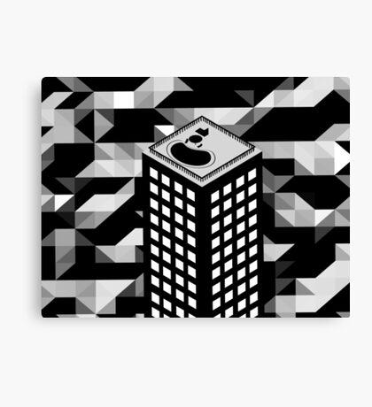 Isometric Skyscraper Canvas Print