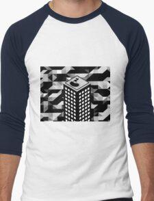 Isometric Skyscraper Men's Baseball ¾ T-Shirt