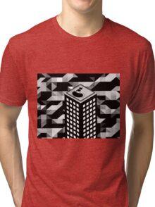 Isometric Skyscraper Tri-blend T-Shirt