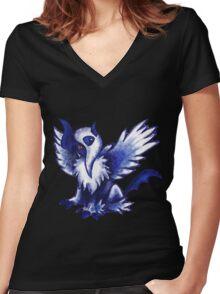 Mega Absol Women's Fitted V-Neck T-Shirt