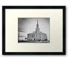 Payson Utah LDS Temple in B&W Framed Print