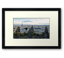 Paris from the Arc Framed Print