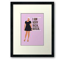 NeNe Leakes: I am very rich, B*tch. Framed Print