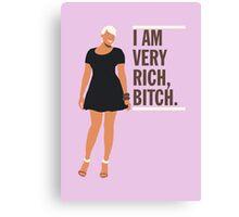 NeNe Leakes: I am very rich, B*tch. Canvas Print