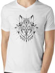 Ethnic Wolf Mens V-Neck T-Shirt