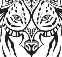 Ethnic Wolf Sticker