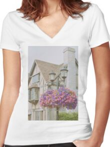 Shakespeare's Birth Place Women's Fitted V-Neck T-Shirt