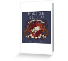 House Bluth Family Seal Greeting Card