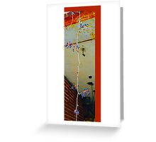 Dangling in the middle of urban decay Greeting Card