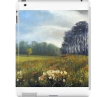 Landscape with daffodils iPad Case/Skin