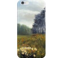 Landscape with daffodils iPhone Case/Skin