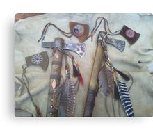 Tomahawks with covers Canvas Print