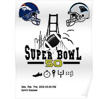 Super Bowl 50 design Poster