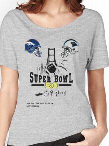 Super Bowl 50 design Women's Relaxed Fit T-Shirt