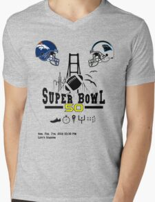 Super Bowl 50 design Mens V-Neck T-Shirt