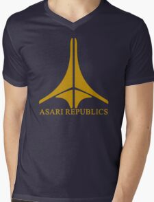 Asari Republics Mens V-Neck T-Shirt
