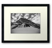 Fairview Mountain, Lake Louise, Alberta BW Framed Print