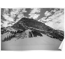 Fairview Mountain, Lake Louise, Alberta BW Poster