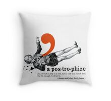 Shakespeare Murder Mystery Punctuation Puncture Throw Pillow