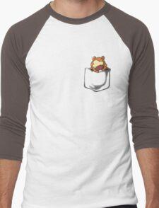 Bidoof Sleeping in Pocket Men's Baseball ¾ T-Shirt