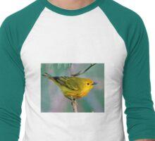 Yellow Warbler Men's Baseball ¾ T-Shirt