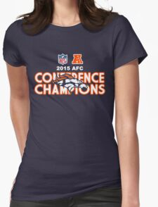 Denver Broncos 2015 AFC Conference Champions Womens Fitted T-Shirt