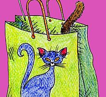 Mookie Cat's in the Bag by misterbrumage