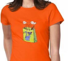 Mookie Cat's in the Bag Womens Fitted T-Shirt