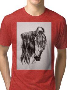 """Beauty in Ink"" - Kathiawari mare Tri-blend T-Shirt"
